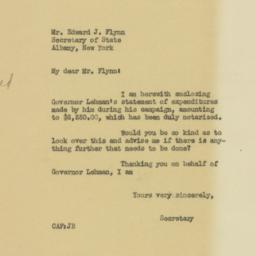 Letter: 1932 November 16