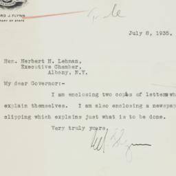Letter : 1935 July 8