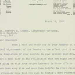 Letter : 1932 March 15