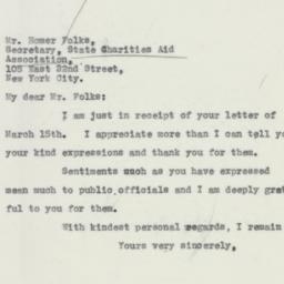 Letter: 1932 March 17