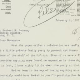 Letter : 1933 February 6