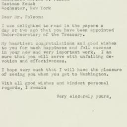 Letter : 1952 December 16