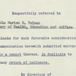 Memorandum : 1956 July 12
