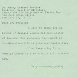 Letter: 1950 December 19