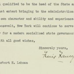 Letter: 1928 November 8