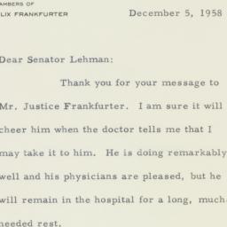 Letter: 1958 December 5