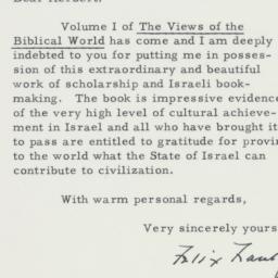 Letter: 1960 January 20