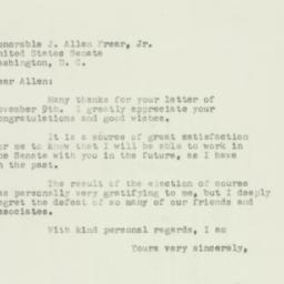 Letter : 1950 November 14