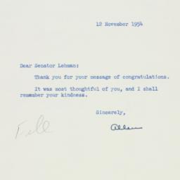 Letter : 1954 November 12