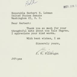 Letter : 1953 June 11