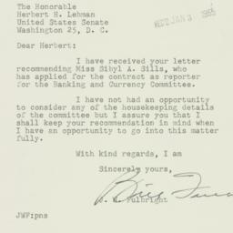 Letter : 1954 December 30