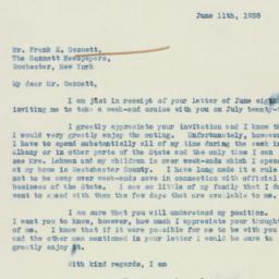 Letter : 1938 June 11