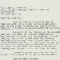 Letter : 1951 February 21