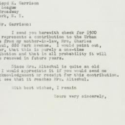 Letter : 1951 December 13