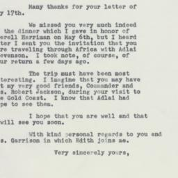 Letter : 1955 May 20