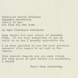 Letter : 1954 December 31