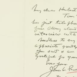 Letter : 1933 July 27