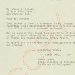 Letter: 1945 July 30