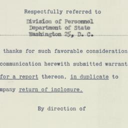 Memorandum : 1951 May 16