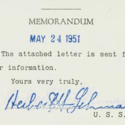 Memorandum : 1951 May 24