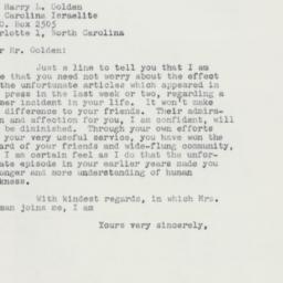 Letter : 1958 September 26