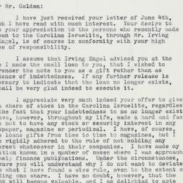 Letter: 1959 June 11