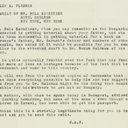 Memorandum : 1950 September 5