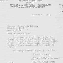 Letter : 1941 December 8