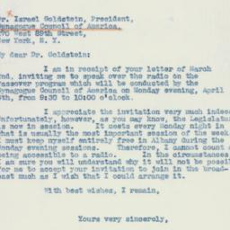 Letter: 1942 March 9