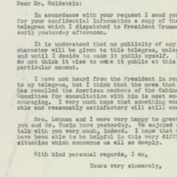 Letter: 1946 July 31