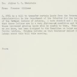 Memorandum : 1956 February 27