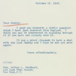 Letter : 1942 October 15
