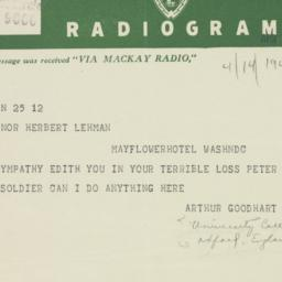 Letter : 1944 April 14