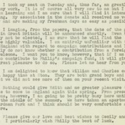 Letter : 1950 January 7