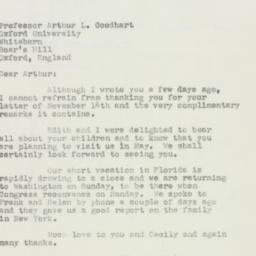 Invitation: 1950 November 22
