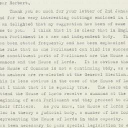 Letter : 1953 January 6