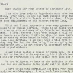 Letter : 1956 October 1