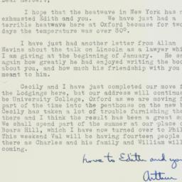 Letter : 1963 August 2