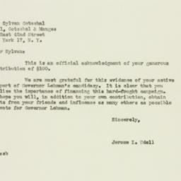 Letter : 1949 October 29