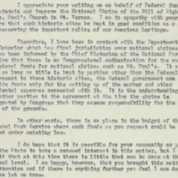 Letter : 1952 March 3