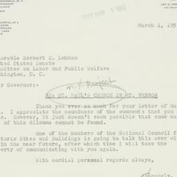 Letter : 1952 March 4