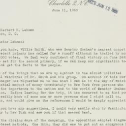 Letter : 1950 June 11