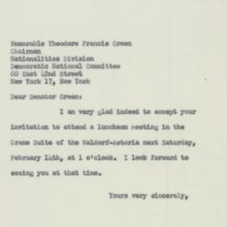 Letter : 1953 February 7