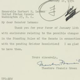 Letter : 1954 January 16