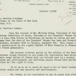 Speech: 1938 October 7
