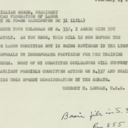 Invitation : 1951 February 1