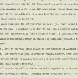 Letter: 1949 July 22