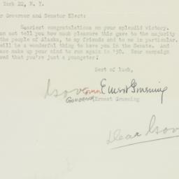 Letter : 1949 November 12
