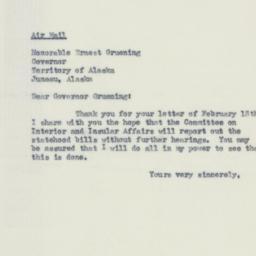 Letter : 1951 February 20