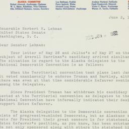 Letter : 1952 June 2